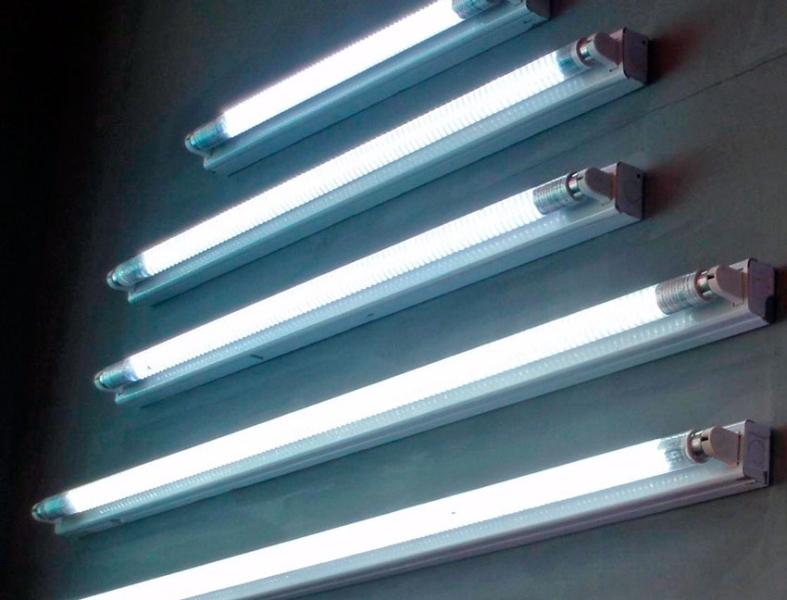 Светильники из ламп дневного света